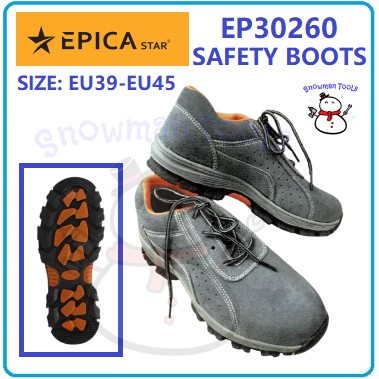 EPICA STAR SAFETY BOOTS EP30260 ANTI-SLIP BOOTS SAFETY SHOES STEEL TOE STELL SHOCK ABSORBENT KASUT KESELAMATAN KASUTBESI