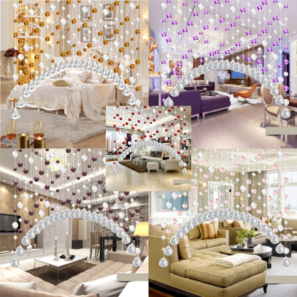 Marvelous Crystal Glass Bead Curtain Luxury Living Room Wedding Decor Interior Design Ideas Helimdqseriescom