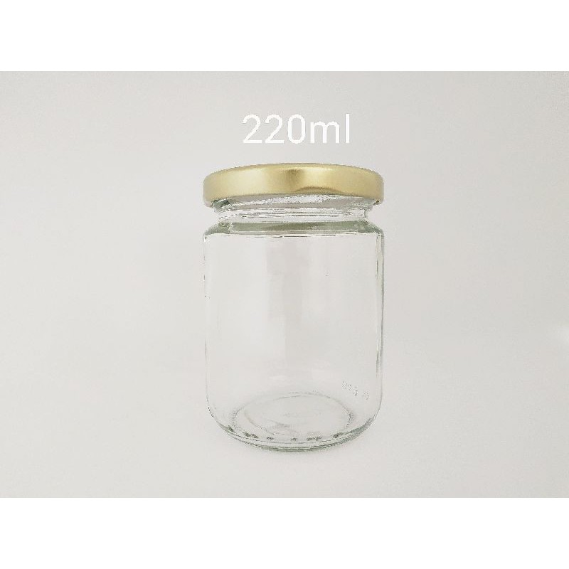 [48 Pcs] 220ml Round Glass Jar Mini Bottle Air Tight Storage Container For Sweet Door Gift | Botol Kaca Bulat | 圆形玻璃小罐子