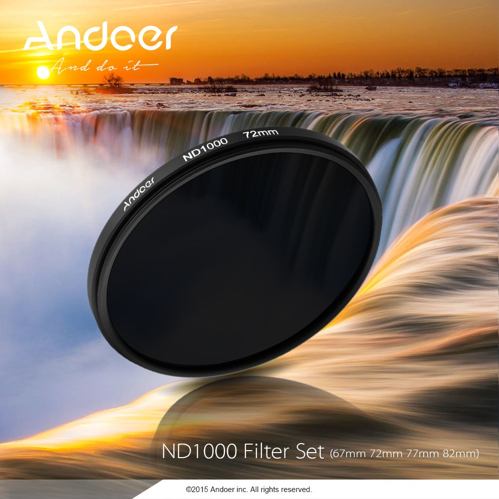 Andoer 67mm Nd Fader Neutral Density Filter Shopee Malaysia Slim Adjustable Variable 2 400 Nd2 To Nd400 67 Mm Fotga