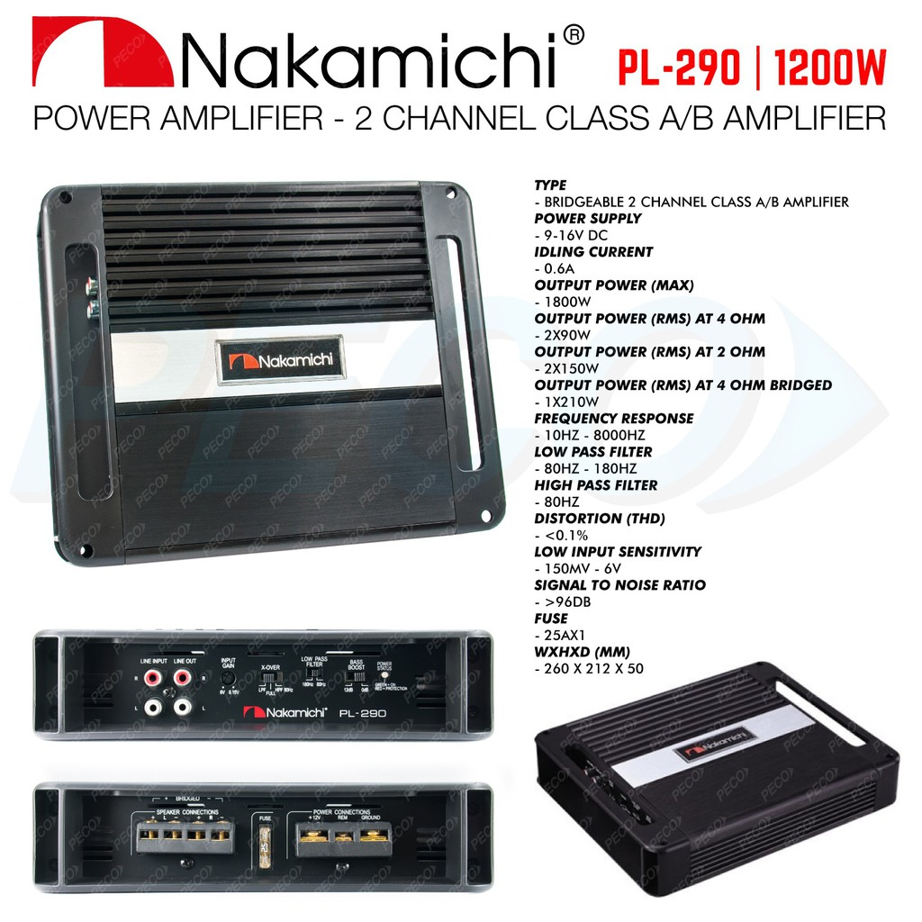 1600 Watt 4 Channel 12v Car Audio Power Amplifier Amp Aluminum Alloy 1600w Digital Bridgeable Pro Kit Black New Shopee Malaysia