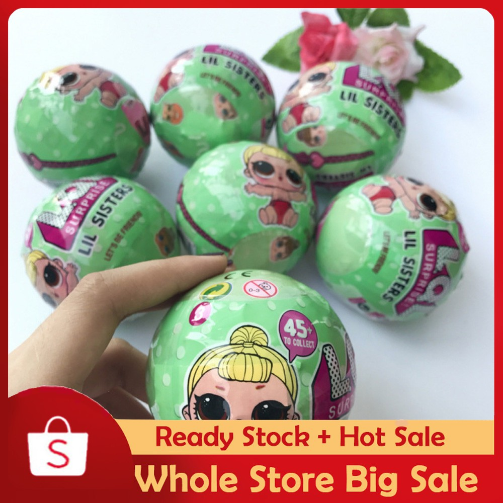 LOL Surprise Doll 1 Lil Sisters Ball 7 Layers Series Surprise Kids Xmas Toy  02