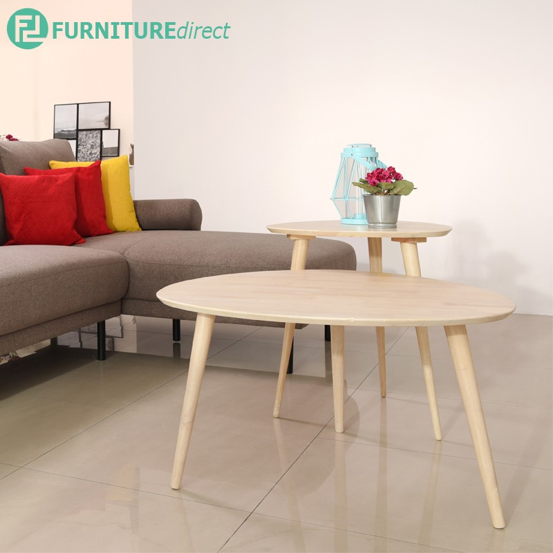 Furniture Direct ITAMI full solid rubberwood occasional tables- 2 colors/ coffee table/ side table