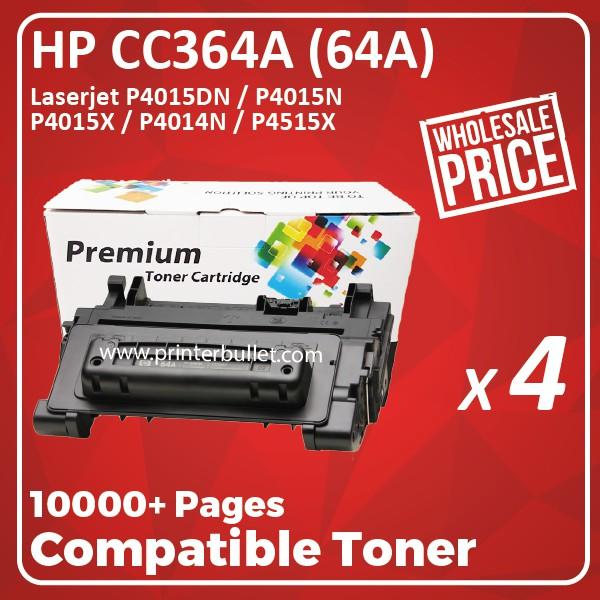 4 unit HP CC364A / 64A / CC364 / 364 Compatible Toner Cartridge