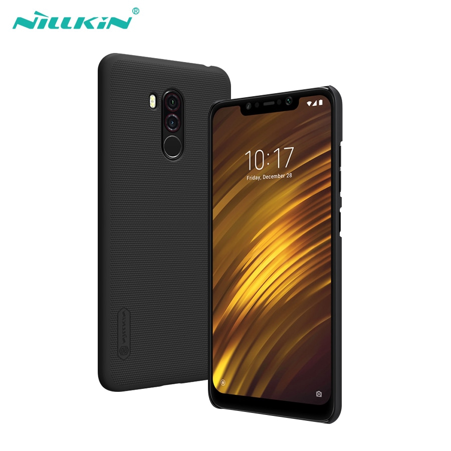 NILLKIN Frosted Matte Hard Back Cover Xiaom Pocophone F1 Case Screen Protector | Shopee Malaysia