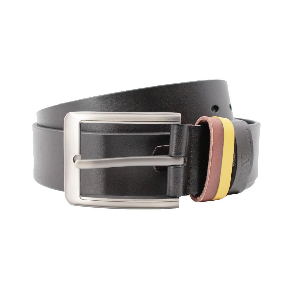 Rav Design Men's 100% Genuine Cow Leather 38mm Pin Buckle Belt Black |RVB573G1