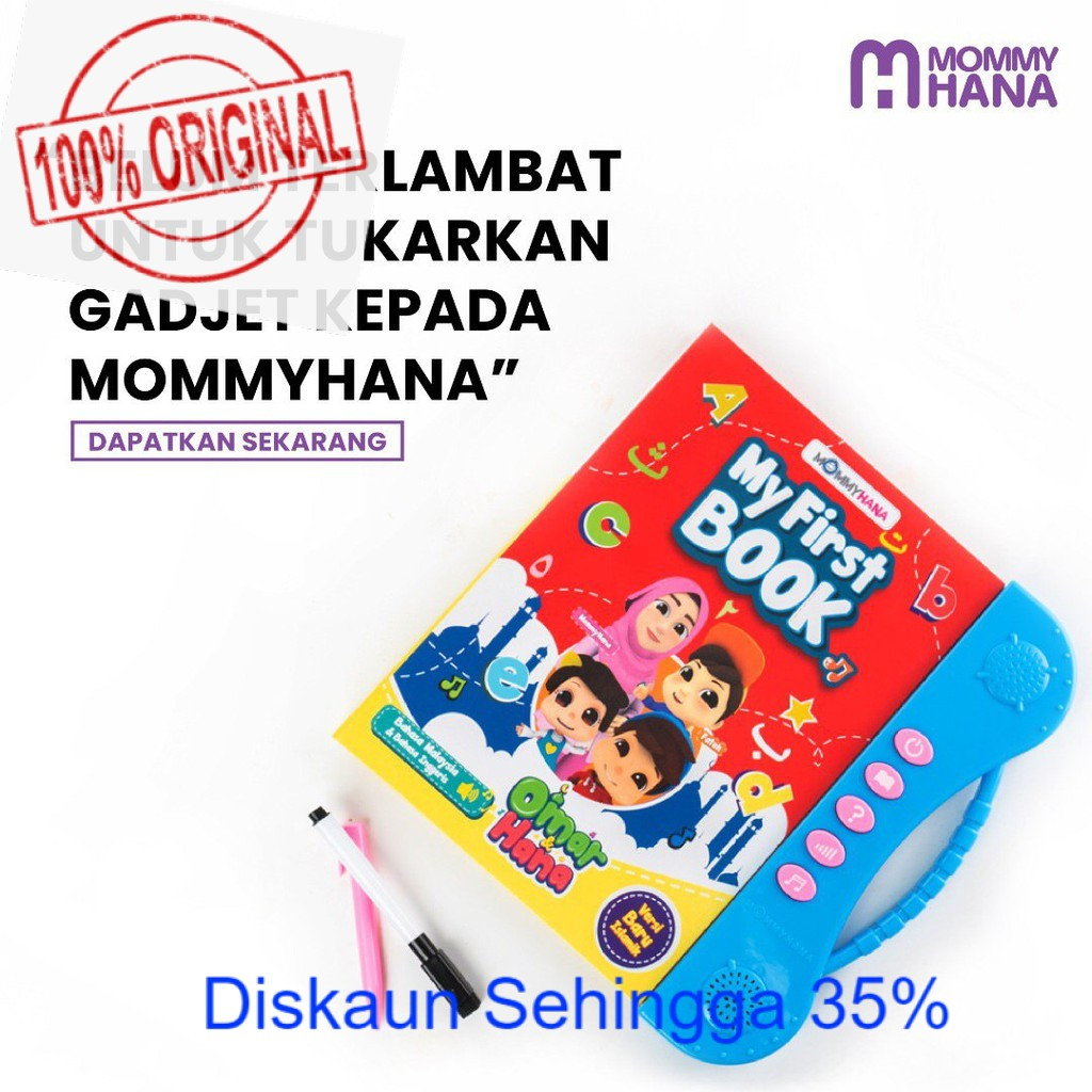 MommyHana My First Book Early Education Audio E-book ABC 123 Alif Ba Ta Learning Toys