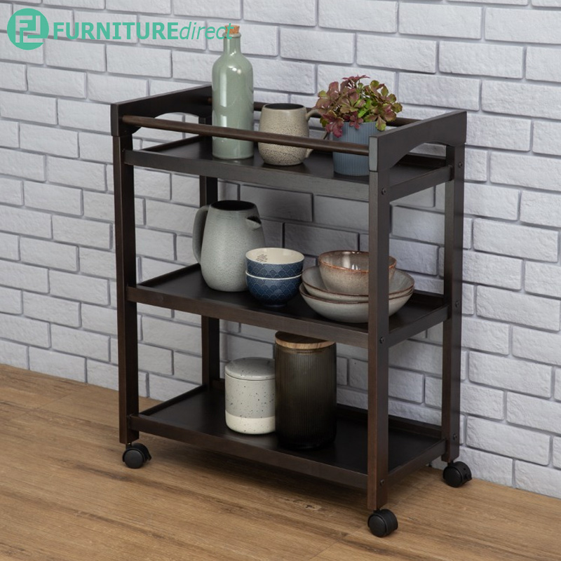 Clancy Solid Wood Kitchen Trolly/ kitchen cart/ trolly