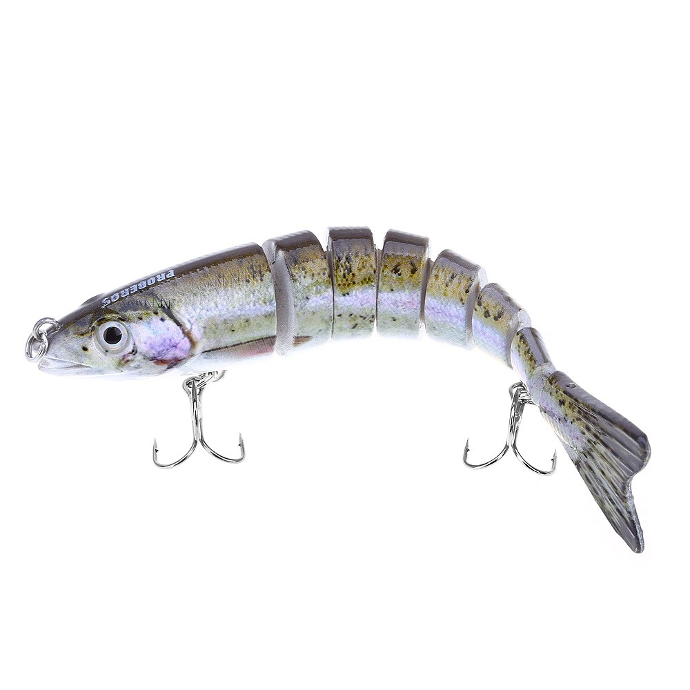 "4.84/"" Jointed Fishing Lures Swimbait Life-like Crankbait Pike Bass Killer Tackle"