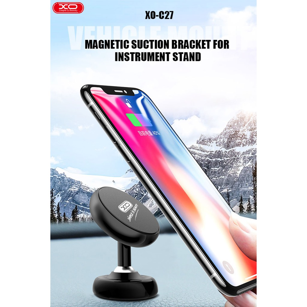 XO C27 CAR DASH HOLDER VEHICLE MOUNT MAGNETIC SUCTION BRACKET FOR INSTRUMENT STAND FIRM ABSORPTION 360 ROTATION