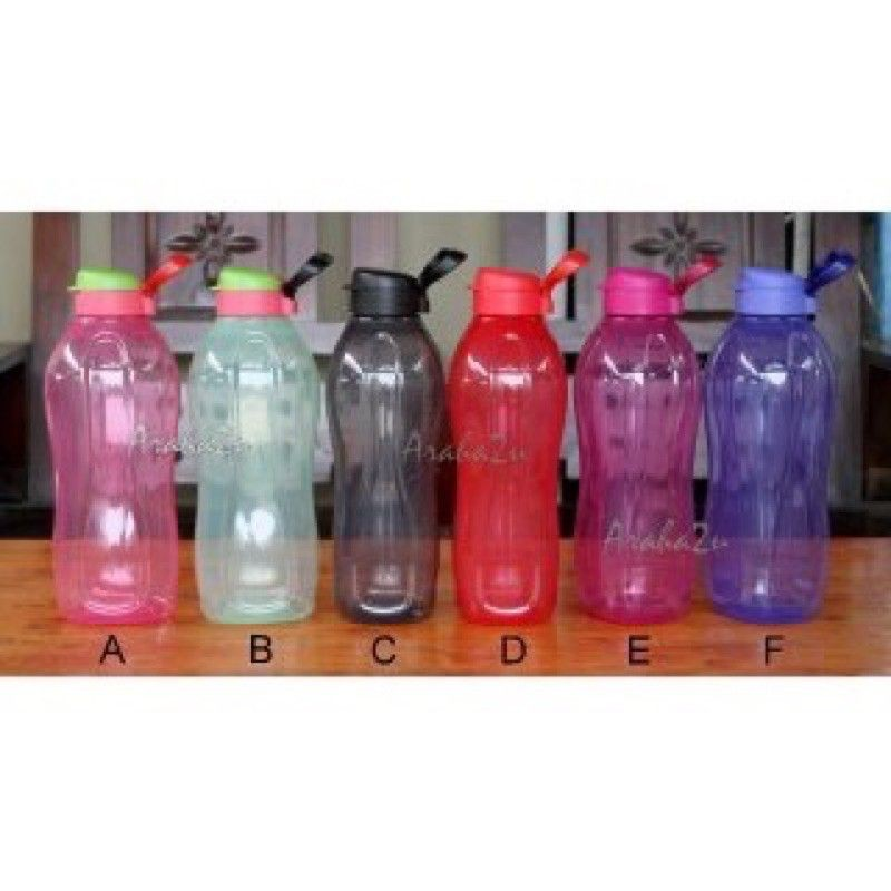 Limited offer Tupperware 2.0L Eco Bottle One pcs Giant Eco Flip Top Bottle free handle with each pcs of bottle