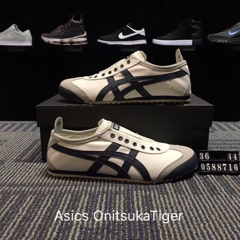 new concept 07253 891de 2018 New Original High quality Asics Onitsuka Tiger canvas shoes lazy shoes