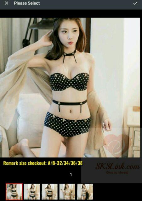 353ac55442e Luxury Underwear Push Up Bra Thong Set 3 4 cup size 34C to 40DD Petite Big  Size