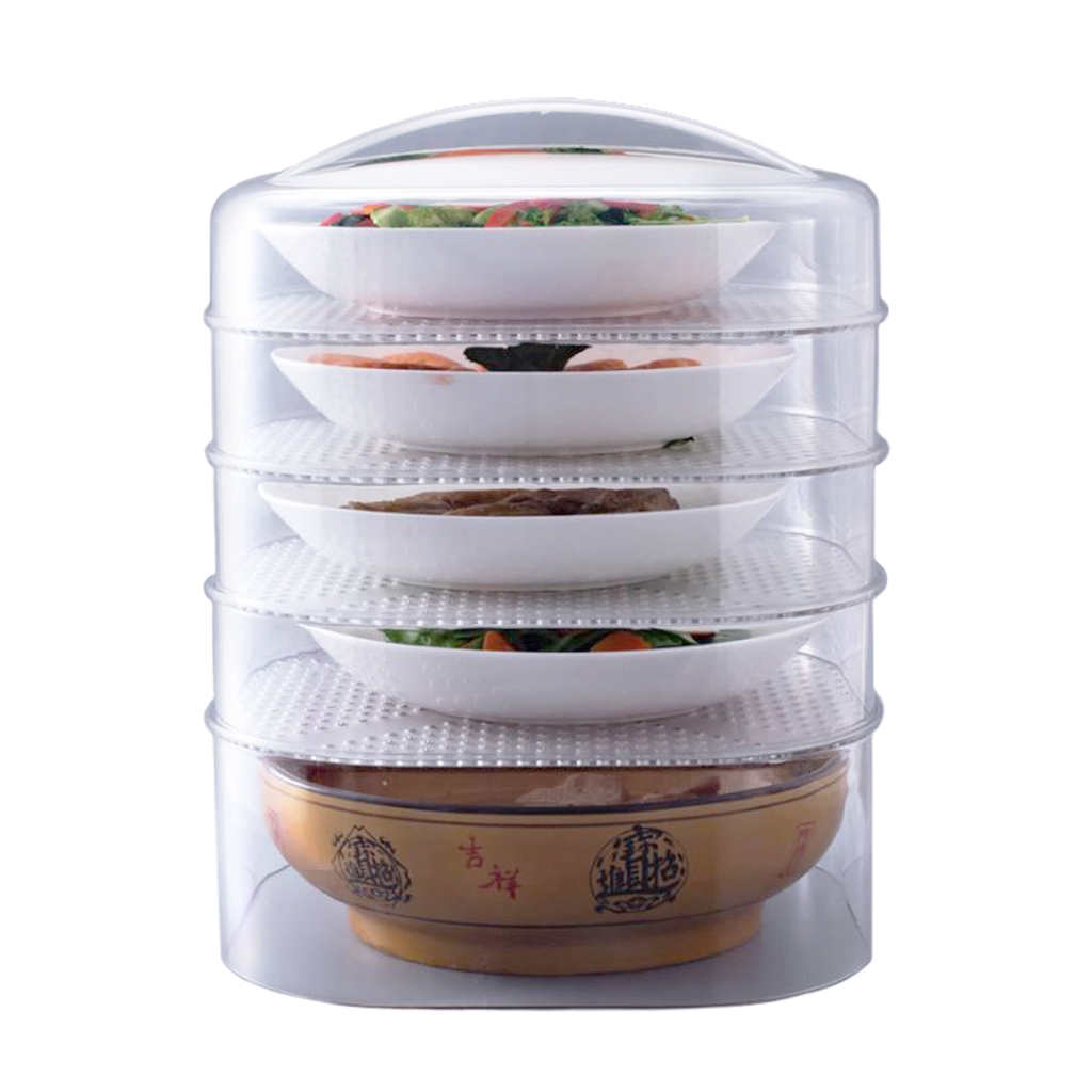 Kitchen 5 Layer Stackable Food Cover Heat Preservation Anti Insects Storage Container Tudung Saji Viral