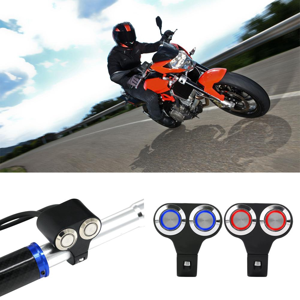 Motorcycle Headlight Brake Switch Type-A 7//8inch 22mm Motorcycle Handlebar Switch Headlight Brake Fog Light ON//OFF with Indicator Light
