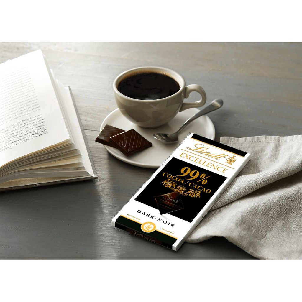 Lindt Excellence 99% Cocoa 50g [Ice Pack Included]