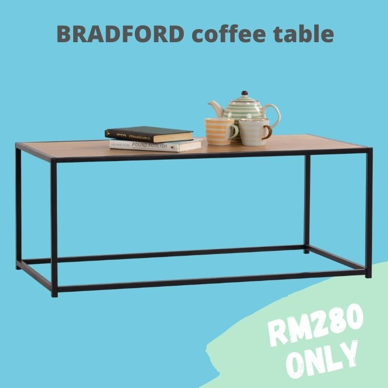 Bradford Coffee Table with Oak colour top/ coffee table nordic/ coffee table ikea