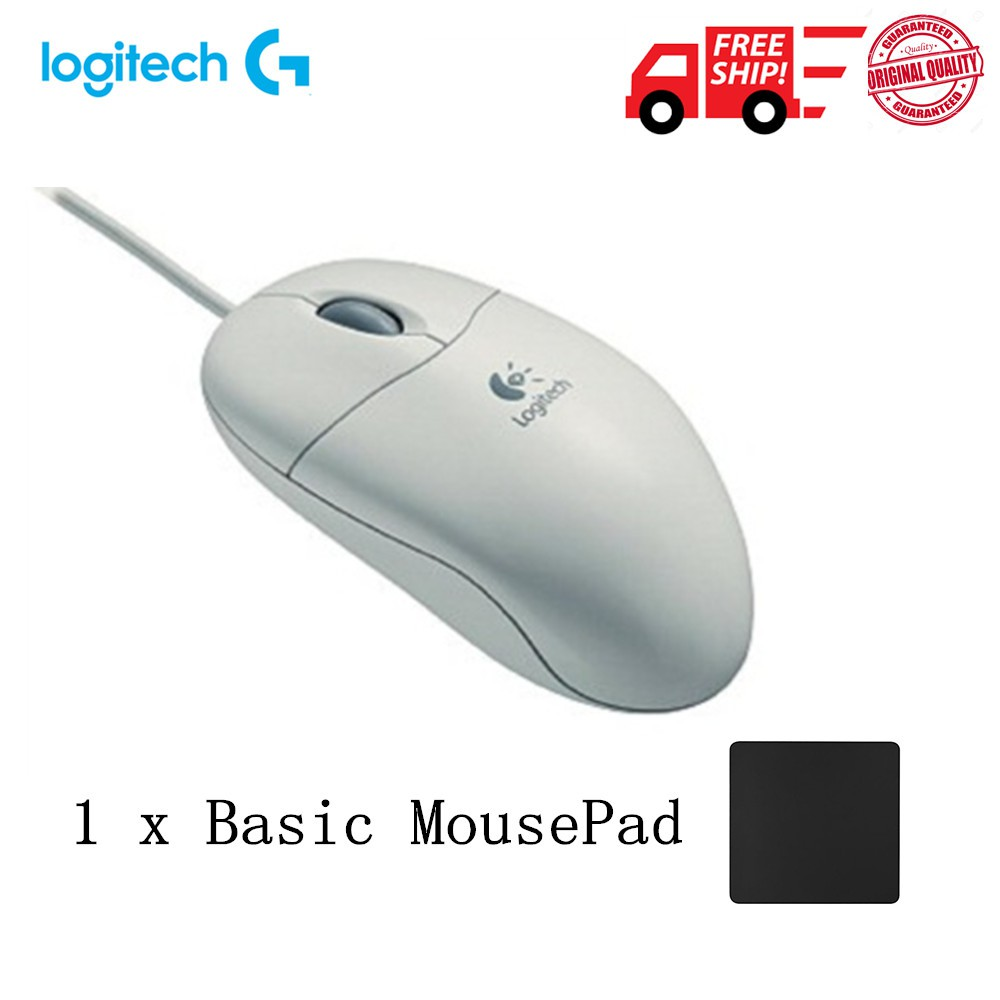 99bd7d35152 Logitech Pilot Wheel Mouse White PS/2 with bulk pack | Shopee Malaysia