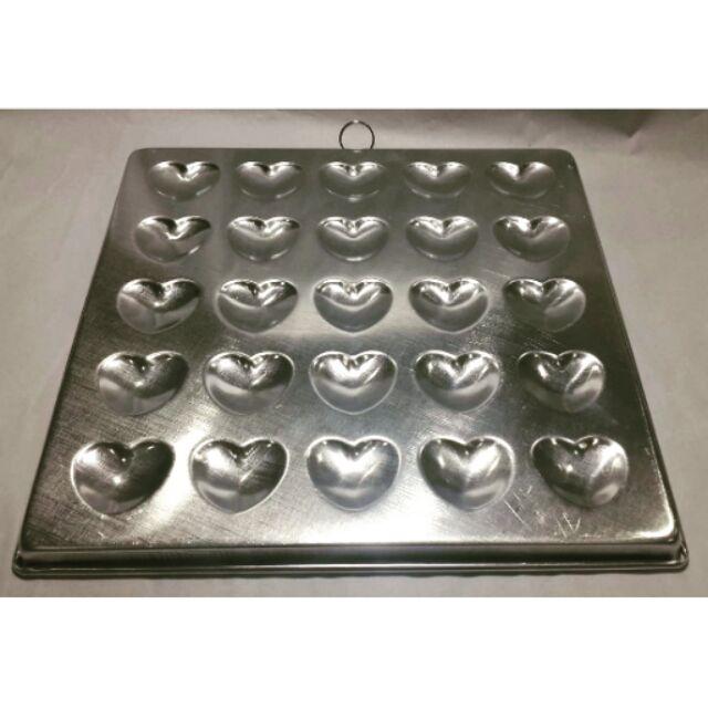 10/12 inch Aluminium 25 Pieces Heart Shape Baking Mould / 10 INCH LOYANG HATI KUCING