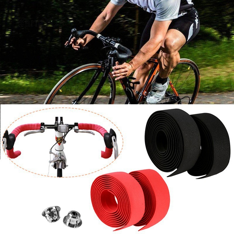 Road Bike Bicycle Cycling Handlebar Tapes Bar Cork Grip Wrap Tapes Bicycle 1Pair