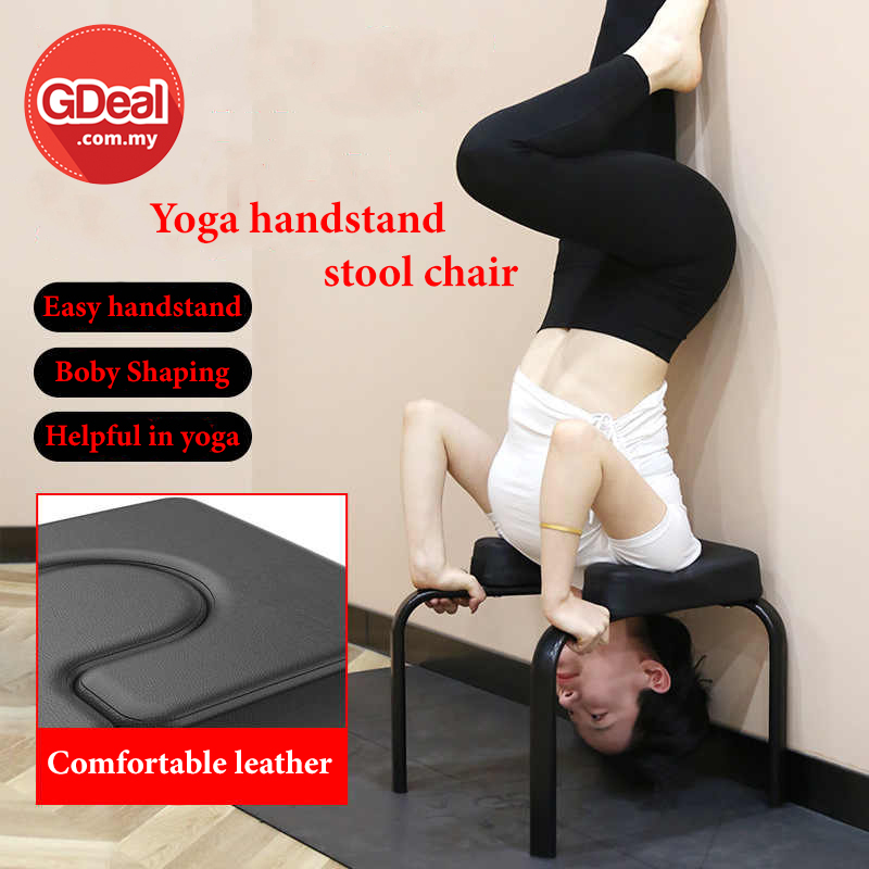 GDeal Yoga Supported Handstand Fitness Handstand Auxiliary Yoga Chair Home Gym Fitness Kit Exercise Chair Balanced Body