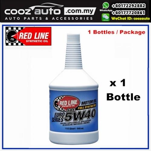 RED LINE REDLINE Euro-Series 5W40 Fully Synthetic Engine Motor Oil (1 Bottle)