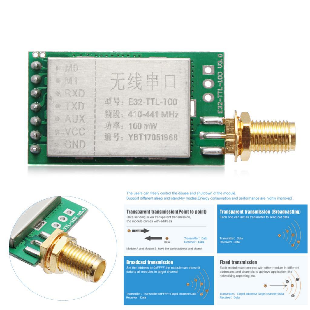 433MHz E32-TTL-100 LoRa SX1278/SX1276 433M RF FCC CE