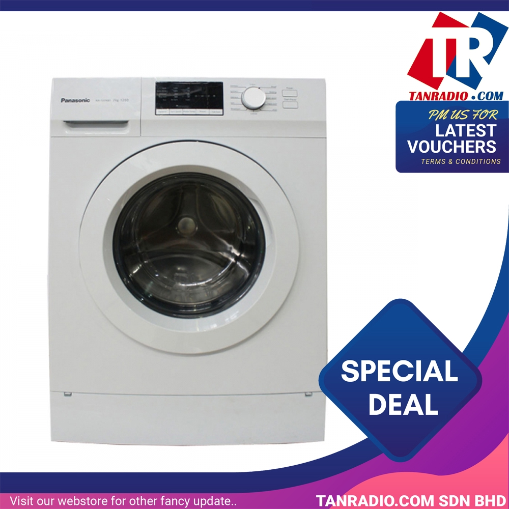 Panasonic 8kg Front Load Washer NA-128XB1W