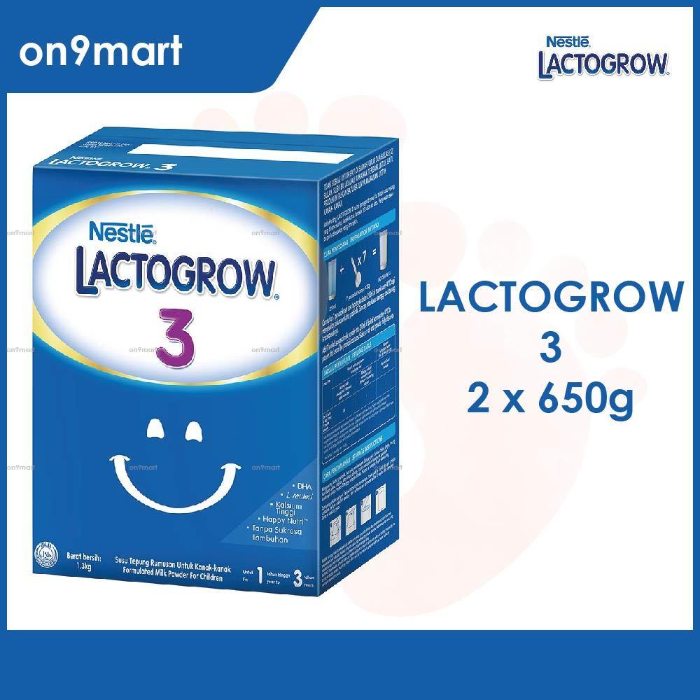 LACTOGROW 3 Formula Milk Powder 650g x 2