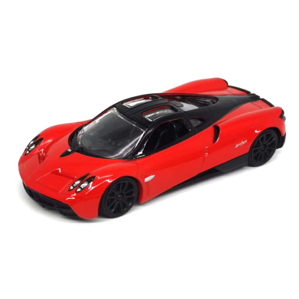 MOTOR MAX 1:43 SUPER WHEELS PAGANI HUAYRA METAL DIE-CAST (RED) 73407RB