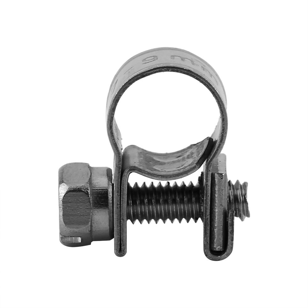 13-15Mm Hose Clamps 10 PCS 304 Stainless Steel Pipe Clip Fuel Line Tube Fastener Super Heavy Duty T Bolt Clamp 6mm-20mm All Sizes