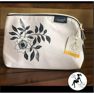L'Occitane Shea Butter Cosmetic Bag Makeup Clutch Pouch Toiletries Organizer Bag