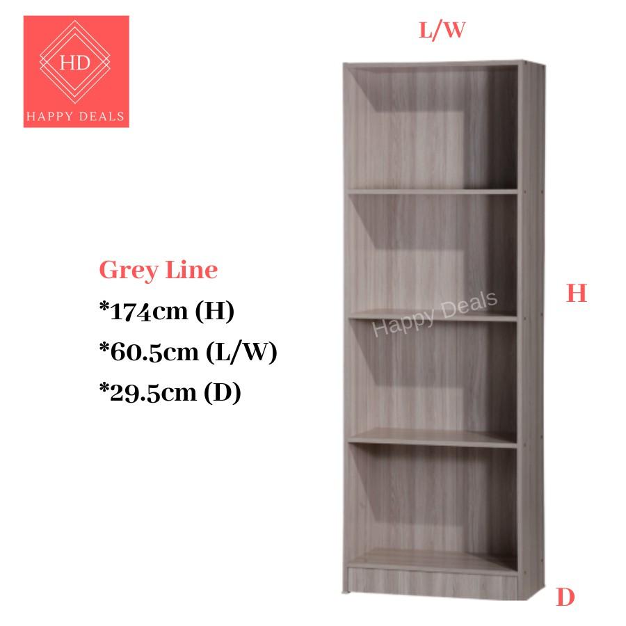 HappyDeals 4-Tier 2Doors Multipurpose Storage Cabinet/ File Cabinet/ Rak Buku/Rak Simpanan/摆设柜 书橱 储物柜 衣橱 SU 800 SU 800D