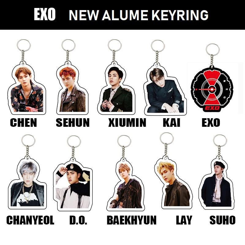 K-POP EXO SAKURA KEYCHAIN FLOWER CHANYEOL BAEKHYUN KAI SEHUN LAY CHEN