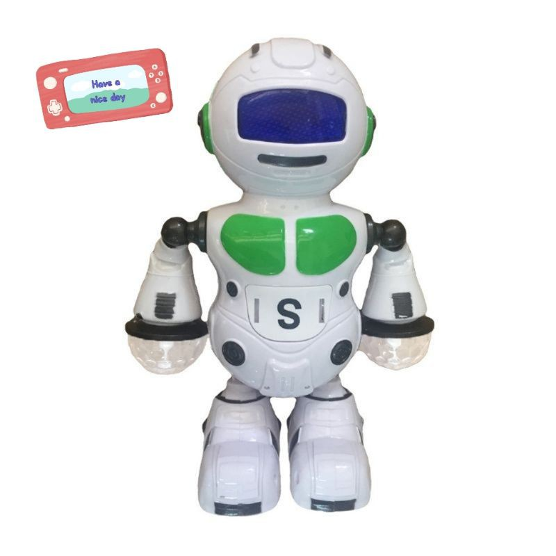 Summer Dancing Robot Educational Humanoid Walking Robots Kit Toys with Colorful LED Electronic Walking Dancing Robot