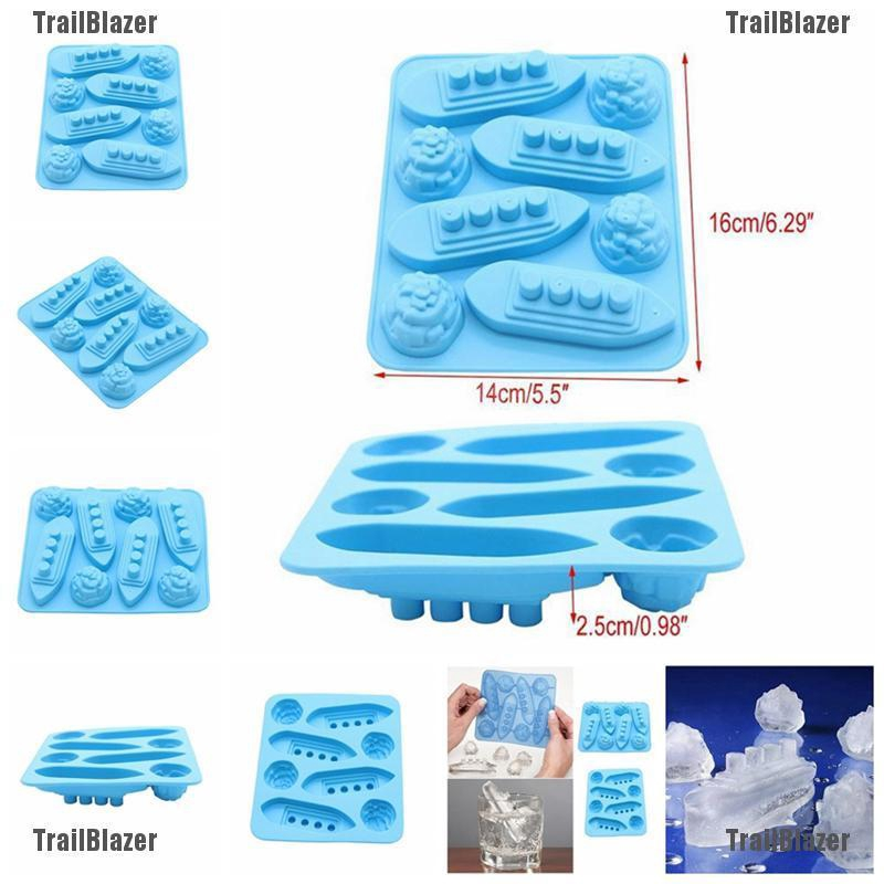 Titanic /& Iceberg Silicone Ice Cube Shape Jelly Tray Maker Mould Large Shape ^^