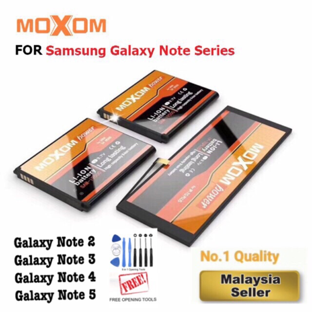 100% Original Moxom Samsung Note 2 3 4 5 Internal Smartphone Replacement  Battery