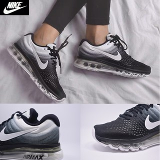 Original NIKE Air Max 2017 Sports Shoes MenWomen Sneakers Black and White Wild