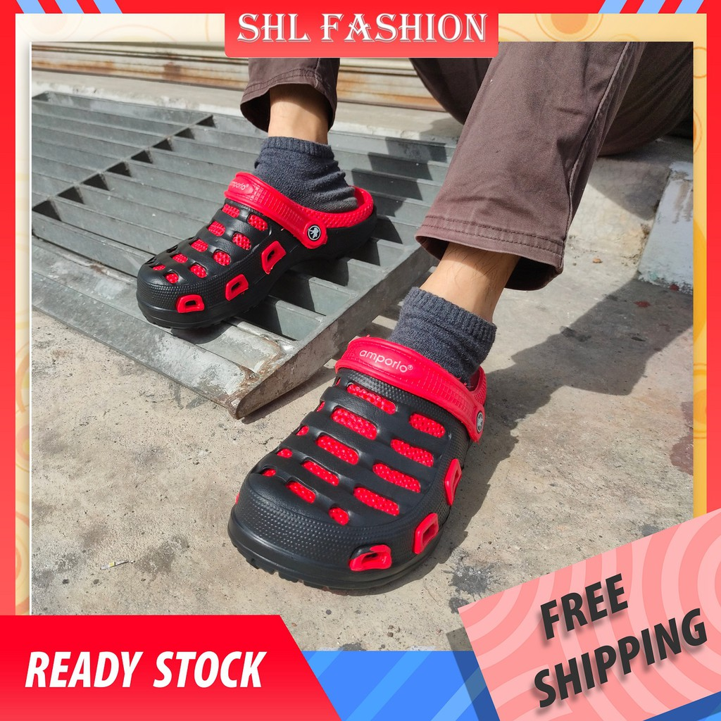 SHL Men CROCS 3 Colors Selipar Kasut Unisex Crocs Sandal Crocs size 40-45【大头鞋】599