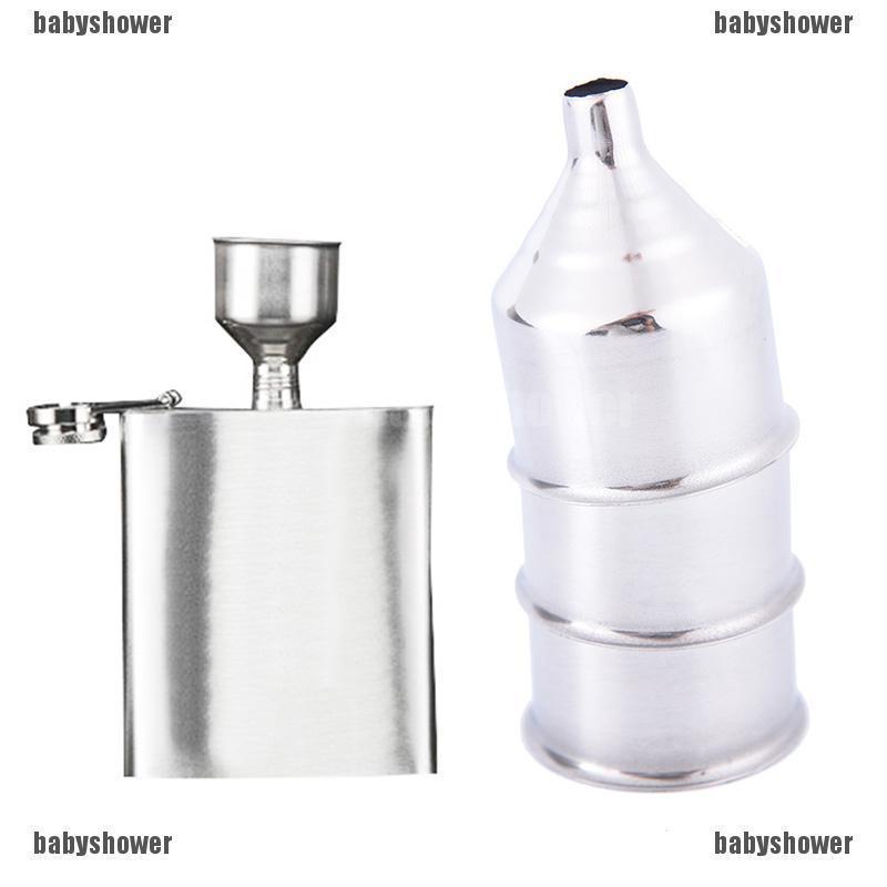 2Pcs 8mm Stainless Steel Funnel for All Kinds of Hip Flasks Wine Pot Filler