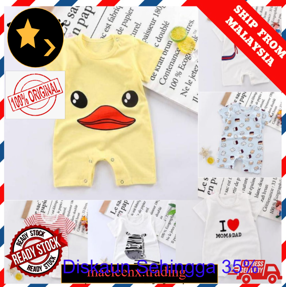 ️READY STOCK️Baby one piece short sleeve newborn baby creeper baby romper short sleeve baju bayi baju romper