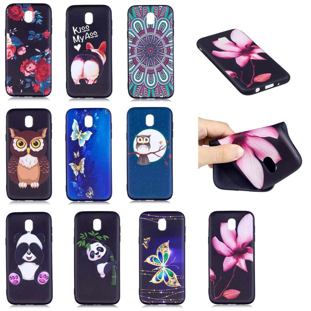 Image of: Cute Cartoon For Samsung J7 Pro Case Soft Silicone Case 3d Cute Animals Back Cover Cases J730 Shopee Malaysia Shopee For Samsung J7 Pro Case Soft Silicone Case 3d Cute Animals Back