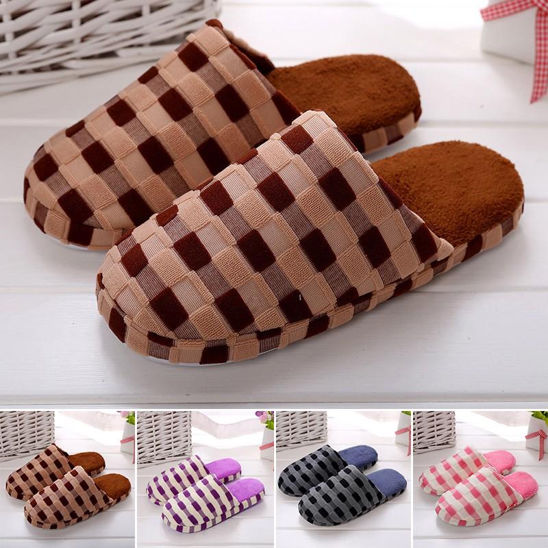 AQ ✡ รองเท้าสลิปเปอร์ผ้าฝ้ายสำหรับผู้หญิงและผ