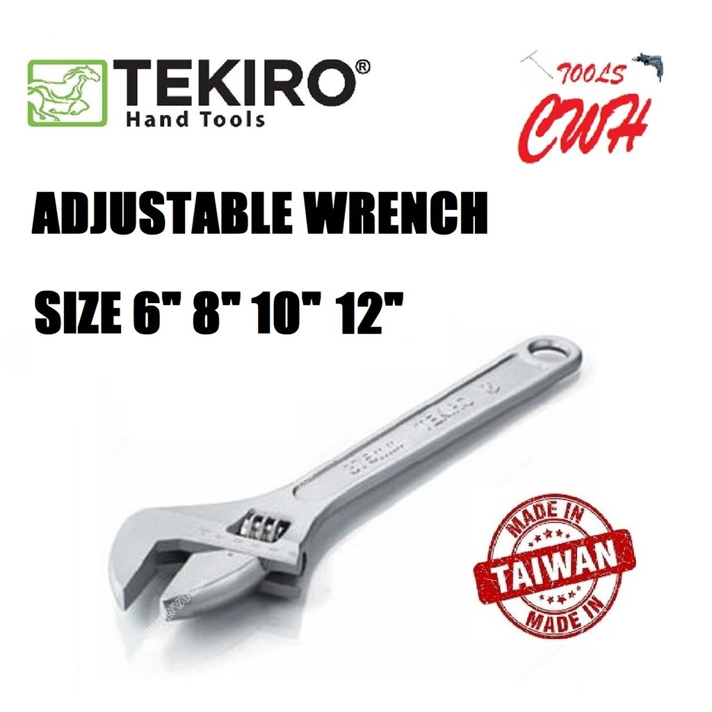 "TEKIRO WR-AD0280 TILL WR-AD0286 (6""TO 24"") ADJUSTABLE WRENCH TEKIRO MADE IN TAIWAN ADJUSTABLE WRENCH 6/8/10/12/15/18/24"