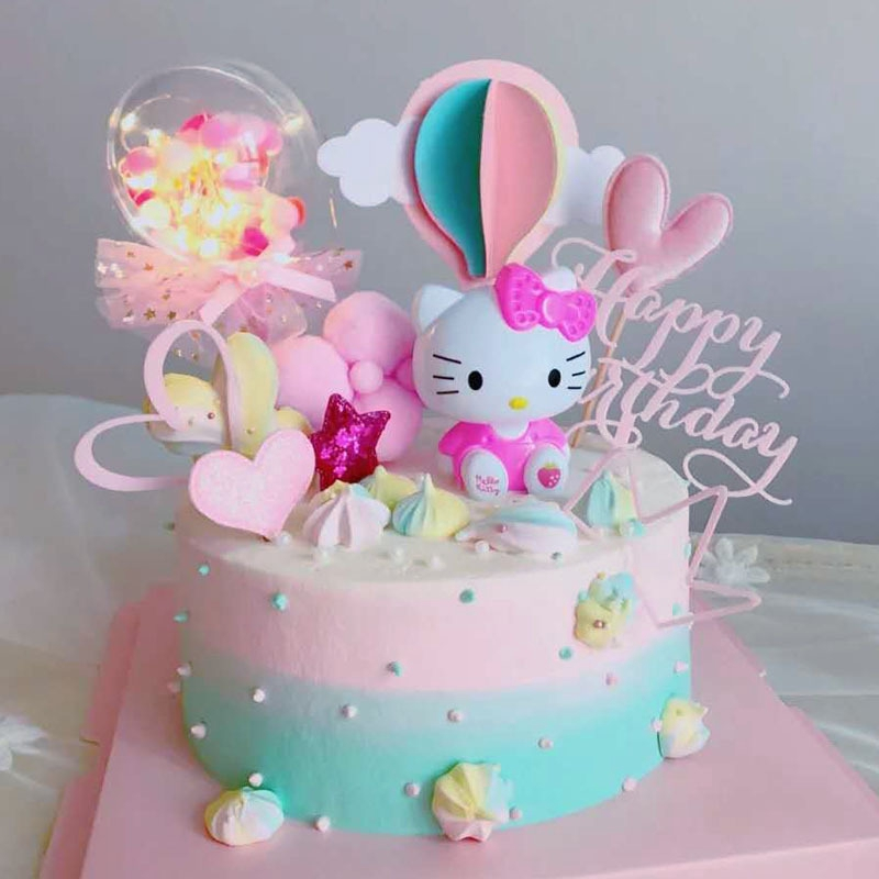 READY STOCK Hello Kitty Happy Birtday Cake Topper ...