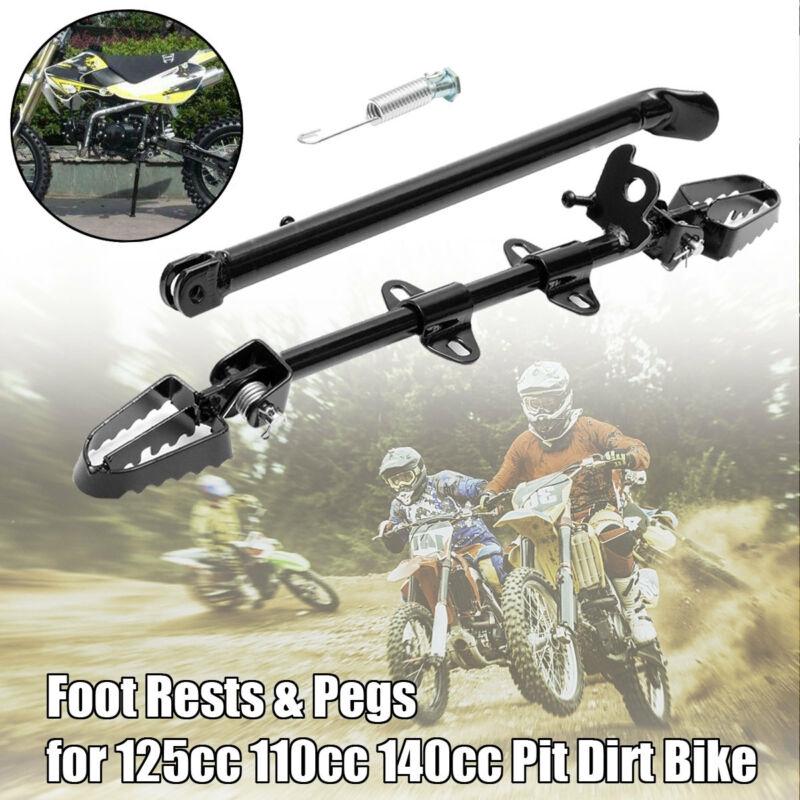 Foot Pegs /& Side Stand Footpegs Footrest Bar Pit Bike Foot Rest Bracket