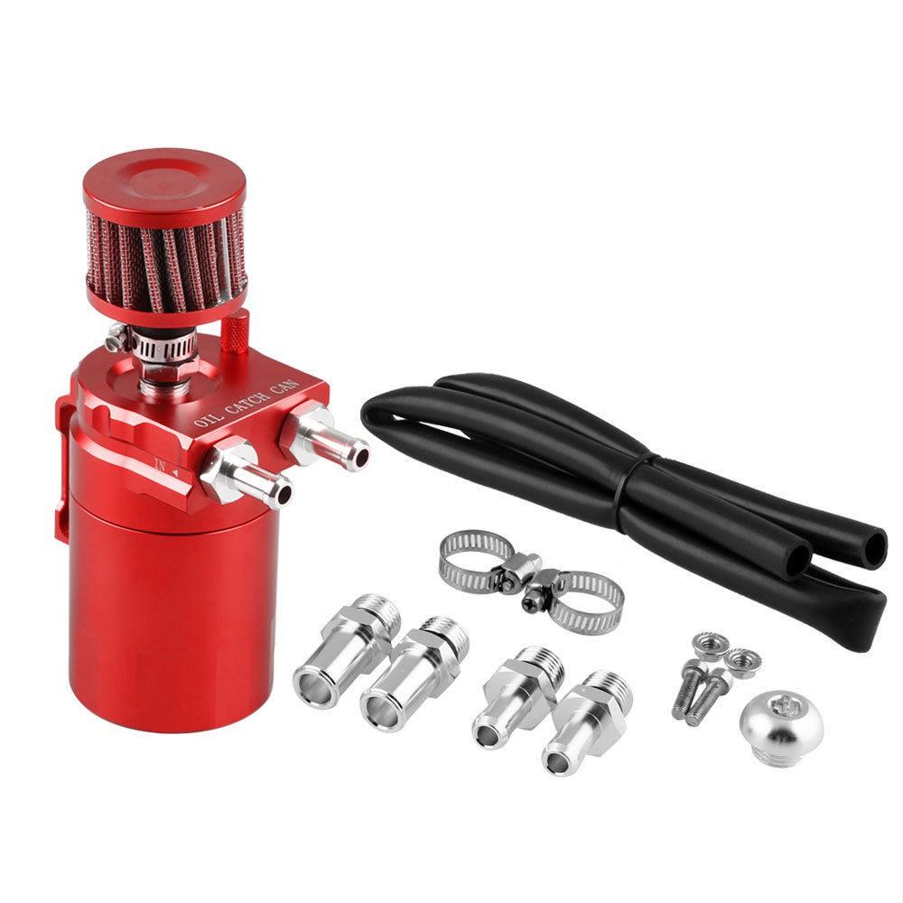 Cylinder Aluminum Engine Oil Catch Reservoir Breather Tank