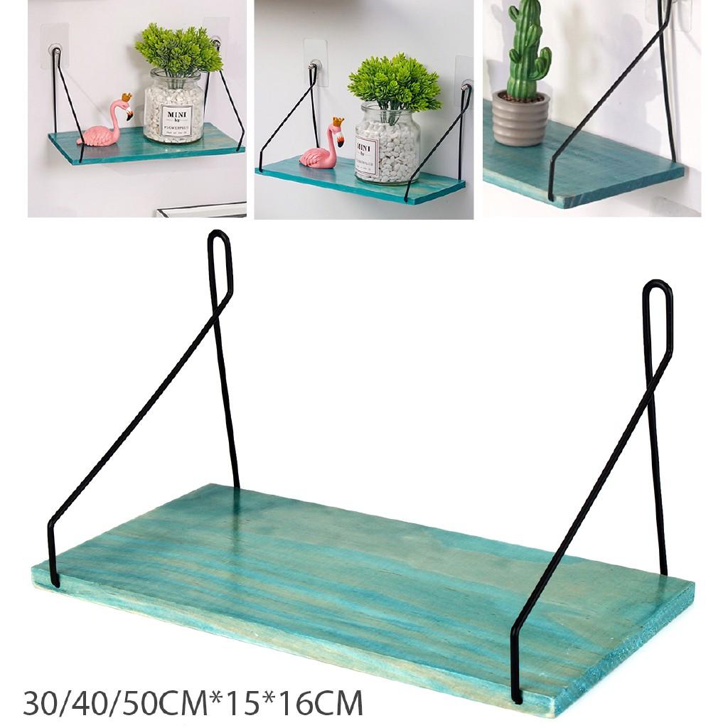 Wood Floating Display Ledge Shelves Wall Mount Storage Bookshelf for Home Decor