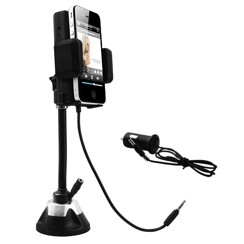 MALAYSIA] 2 DLM 1 PEMBESAR SUARA + PEMEGANG HANDPHONE/ Transmitter Car Speaker System With Phone Holder