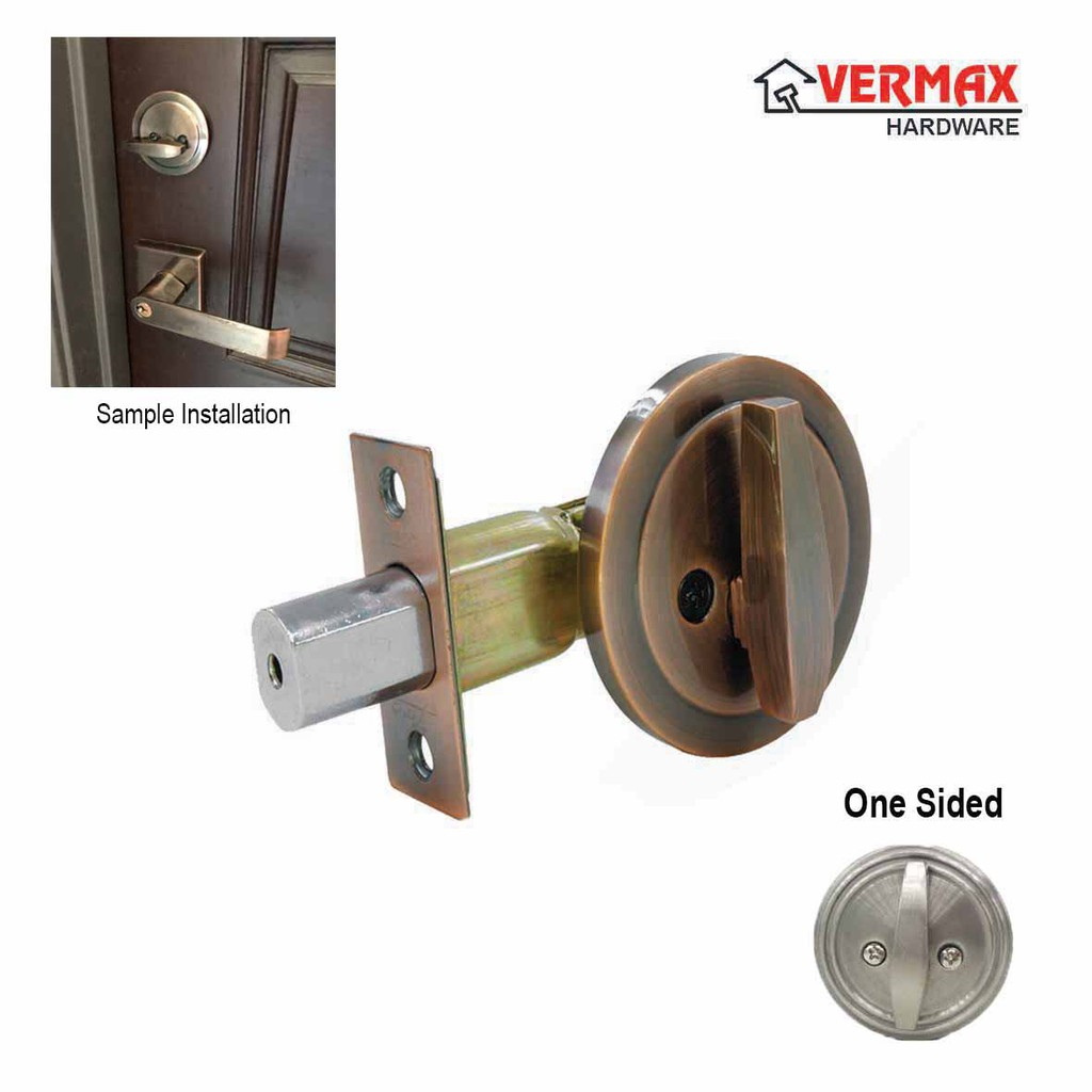One Sided Half Deadbolt Door Lock Home Security One Side Lockset Thumbturn Keyless Tombol Bilik Shopee Malaysia